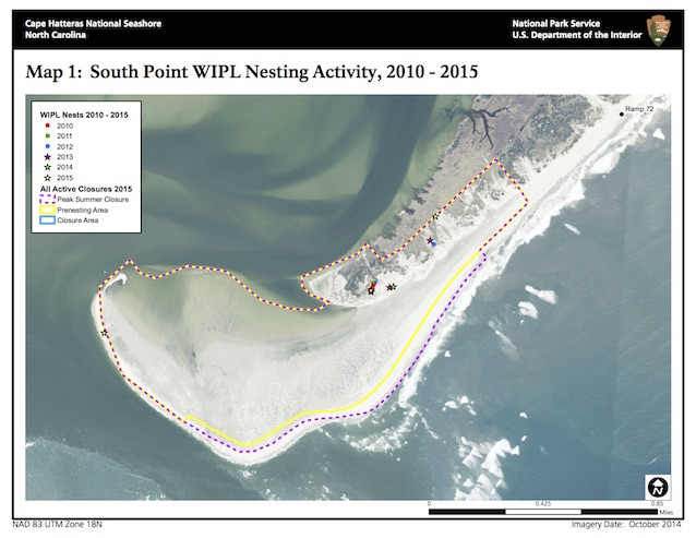 South Point WIPL Nesting Activity, 2010-2015