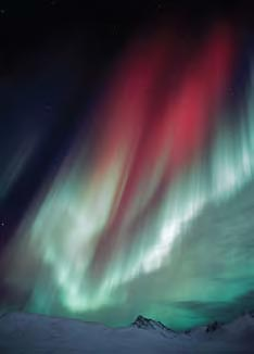 A red aurora above Klondike Gold Rush.
