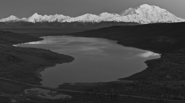 Lake with Denali in the background