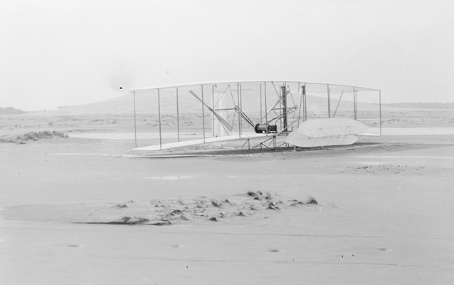 Damaged Flyer at the end of the day- Kitty Hawk, 1903