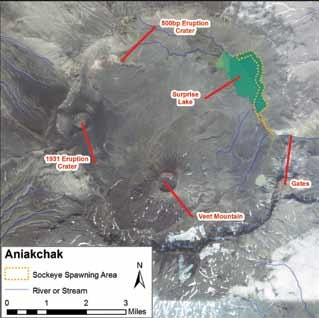 map of Aniakchak Caldera