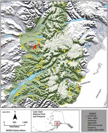 map of Lake Clark National Park and Preserve