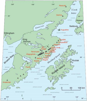 map of the upper Alaska Peninsula