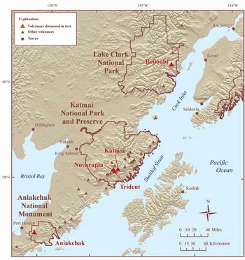 map of south-central Alaska