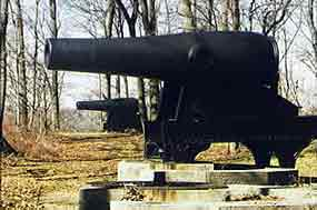 A close-up perspective of the Rodman cannon.