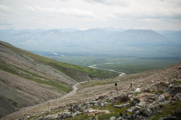 A sound-monitoring station on Healy Ridge in the Denali Park wilderness.