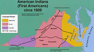 Map of Native American Language groups ca. 1600
