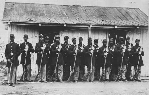 Members of the 107th Infantry of the U.S. Colored Troops