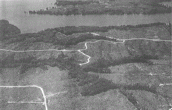 Aerial of Fort Pocahontas (unknown date)