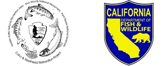 Coho & Steelhead Restoration Project and CA Department of Fish and Wildlife logos