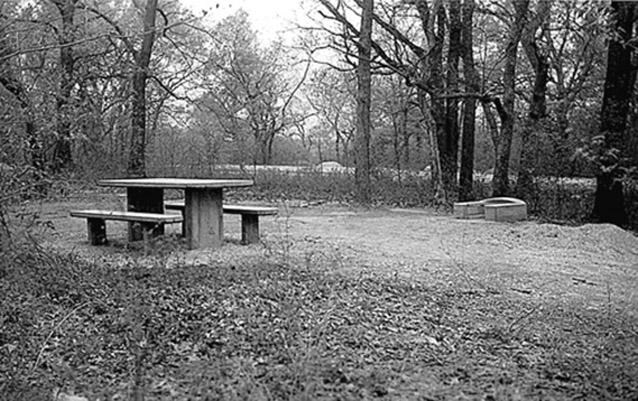 Picnic area in Rock Creek Campground (NPS)
