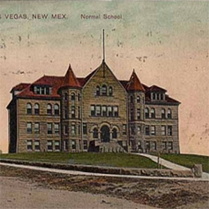 Escuela New Mexico Normal, East Las Vegas, NM, c. 1900, Universidad New Mexico Highlands