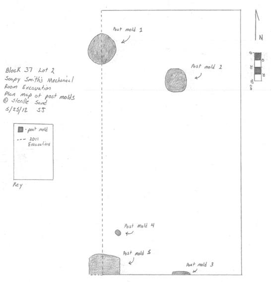 Black and white sketch of a rectangle and several circles