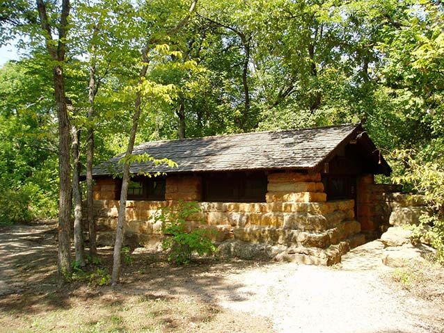 Little Niagara Falls/Travertine Island comfort station (K. Ruhnke, NPS)