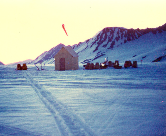 Snowmachine  Camp  on  Harding  Ice  Cap,  1970.