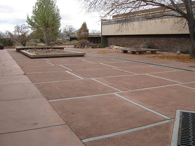North end of Painted Desert Community Complex plaza, 2010 (J. Cowley, NPS)