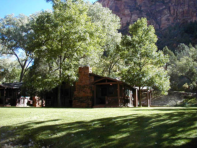 Deluxe cabins at Zion Lodge, 2005 (NPS)