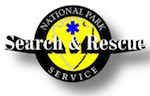 The Search and Rescue emblem of the National Park Service. NPS image.
