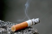 close up of a cigarette burning