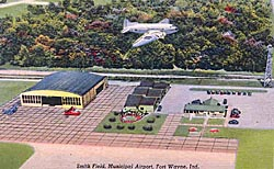 Historic postcard of Smith Field, c. 1940