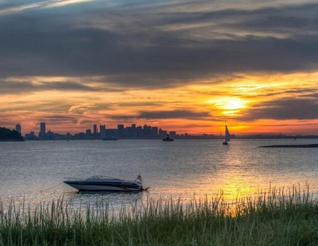 Sunset from Boston Harbor Islands National Recreation Area