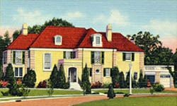 Historic postcard view of the Commanding Officer's Quarters
