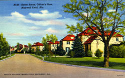 Historic postcard of the Senior Officers' Quarters