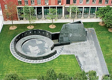 Aerial of African Burial Ground Monument