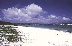 One of the invasion beaches on Tinian