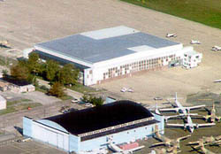 Aerial view of Hangar No. 1 United States Naval Air Station Wildwood