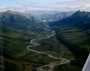 View of the Gates of the Arctic National Park and Preserve