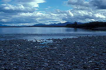 The Noatak River in warmer weather, above the Kelly River