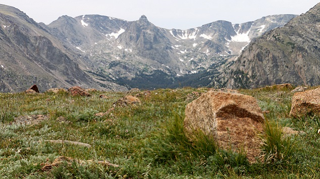 Rocky Mountain National Park (CO) shows evidence of glaciation