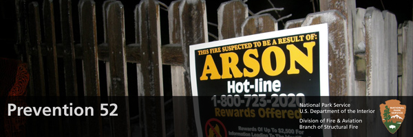 Arson Sign on a fence