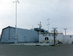 SLC-10, Launch Pad, Prefabricated Shelter Building (Launch Shed), Northeast face
