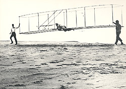 Historic photo of the Wright brothers