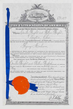 Wright brothers finally received this patent in 1906 for their airplane