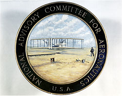 The official seal for the National Advisory Committee for Aeronautics (NACA)