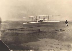 The beginning of the first flight, December 17, 1903