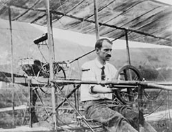 Glenn Curtiss in plane