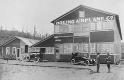 Historic image of Building No. 105 of the Boeing Aircraft Company