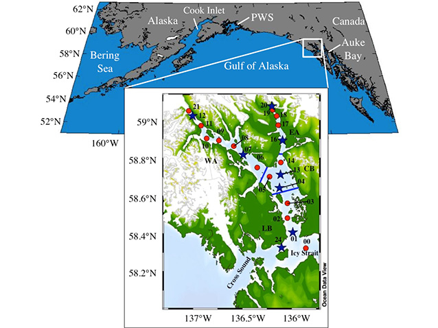 maps illustrating the location of glacier bay, in the panhandle of alaska