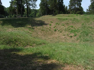 Crater at Petersburg National battlefield