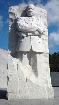 The Stone of Hope showing Martin Luther King, Jr.