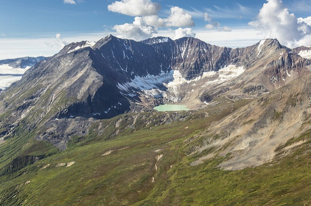 The Granite Creek Tarn (Wrangell-St. Elias National Park, AK) sits in a cirque