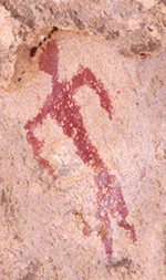 A pictograph from the Gila Cliff Dwellings