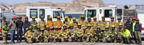 group photo of Structural firefighting academy class of Spring 2012.