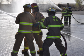Firefighter training for teamwork and technique