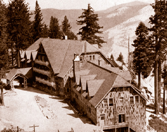 historic image of Glacier Point Hotel in YOSE