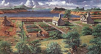 An artist's rendering of Providence, circa 1650